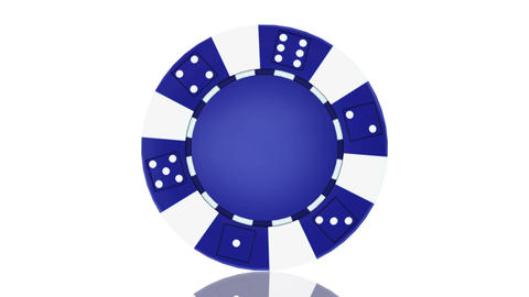 Casino chip, Animation isolate on white, loop Animation