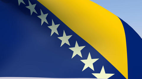 Flag of Bosnia Stock Video Footage