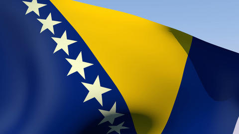 Flag of Bosnia Animation