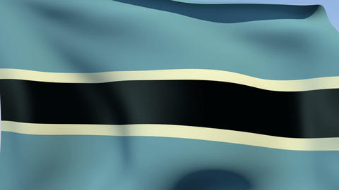 Flag of Botswana Animation