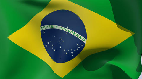 Flag of Brazil Stock Video Footage