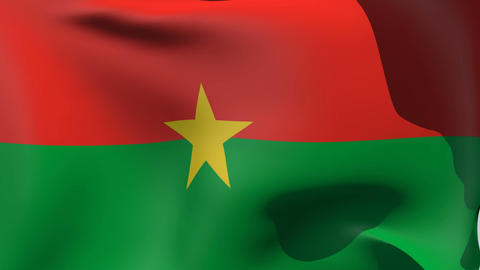 Flag of Burkina Faso Stock Video Footage