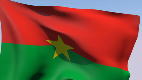 Flag of Burkina Faso Stock Video Footage