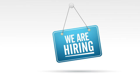 We Are Hiring Store Sign Animation