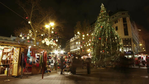Christmas Market in Budapest 8 Timelapse Footage
