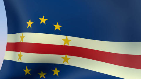 Flag of Cape Verde Stock Video Footage