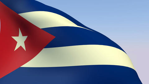 Flag of Cuba Stock Video Footage