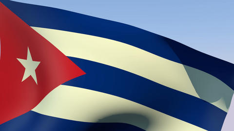 Flag of Cuba Animation