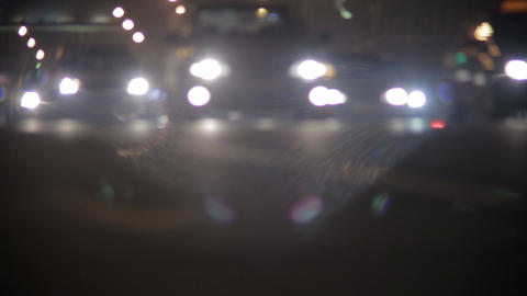 Night Highway stock footage