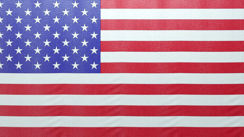 USA mock croc Flag curtain up. Alpha is included. Rewind... Stock Video Footage