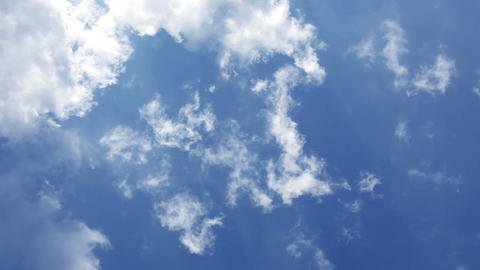 Fast cloud movement on blue sky Stock Video Footage