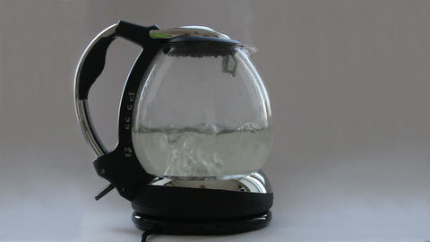 Kettle with boiling water Stock Video Footage