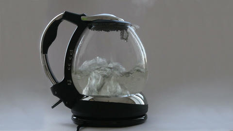 Kettle with boiling water Footage