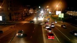 Night traffic on the street Stock Video Footage