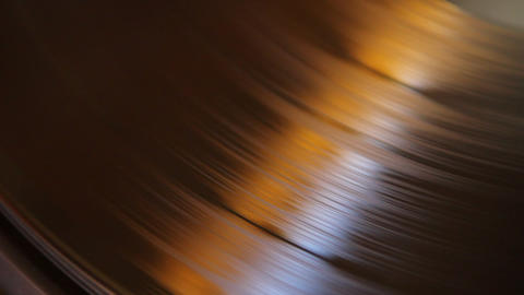 Spinning vinyl and cartridge Stock Video Footage