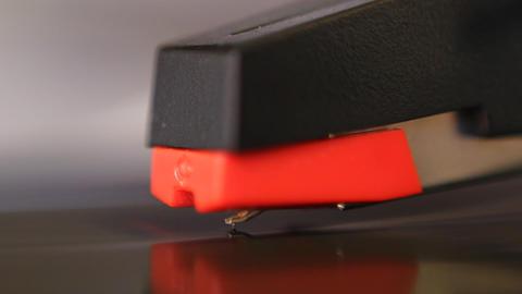 Macro of cartridge and stylus Stock Video Footage