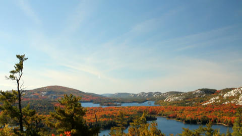 View of the lakes of Killarney in autumn Stock Video Footage