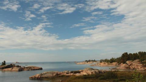 View of islands in Georgian Bay Stock Video Footage