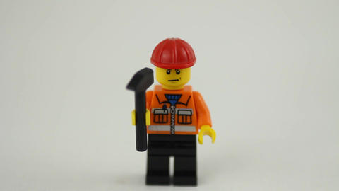 Lego work force crowd Stock Video Footage