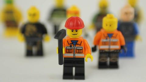 Lego work force crowd Footage