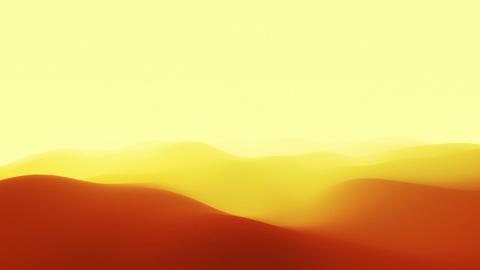 Сamera flies through abstract desert Stock Video Footage
