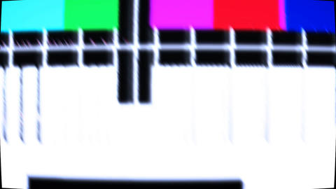 TV test screen with color bars Stock Video Footage