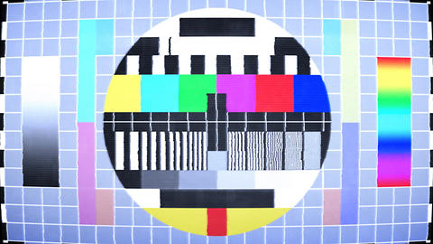 TV test screen with color bars Animation