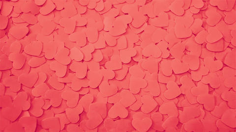 Romantic background with handmade paper hearts Stock Video Footage