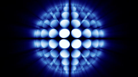 Glowing globe, the variation of disco-ball, blue tint Stock Video Footage