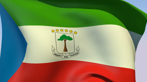 Flag of Equatorial Guinea Animation