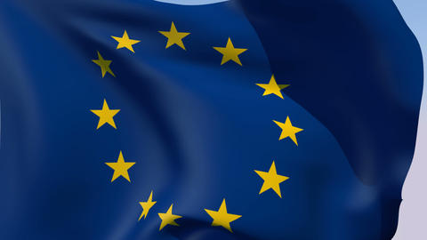 Flag of Europe Stock Video Footage