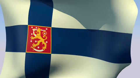 Flag Of Finland State stock footage