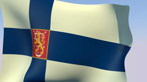 Flag of Finland State Stock Video Footage