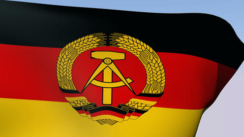 Flag of Germany DDR Stock Video Footage