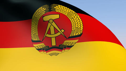 Flag of Germany DDR Animation