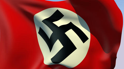 Flag of Third Reich (Germany 1935-1945) Stock Video Footage