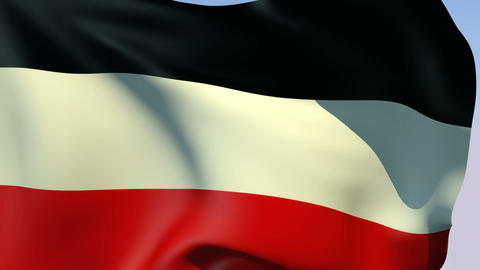 Flag of German Empire 1871-1918 Stock Video Footage