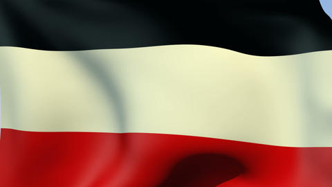 Flag of German Empire 1871-1918 Animation