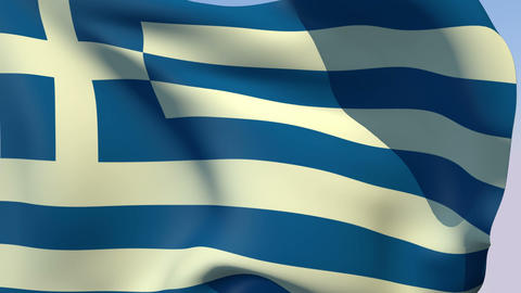 Flag of Greece Stock Video Footage