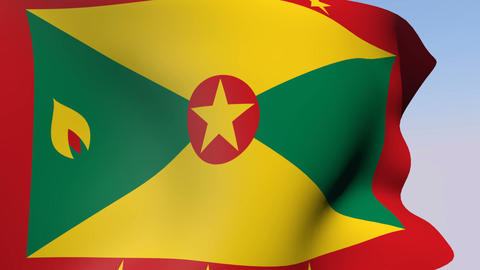 Flag of Grenada Stock Video Footage