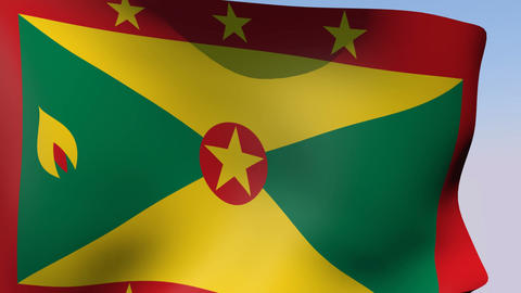 Flag of Grenada Stock Video Footage