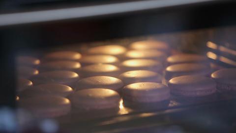 Process of making pink macaron Footage