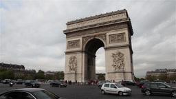 Arch of Triumph, Paris Footage