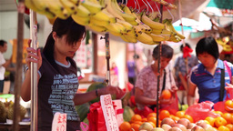 People Making Shopping In A Market In Macau stock footage