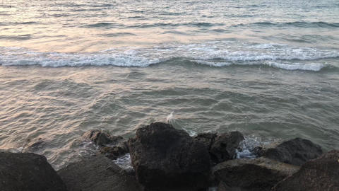 Sea Waves On The Rocks GIF