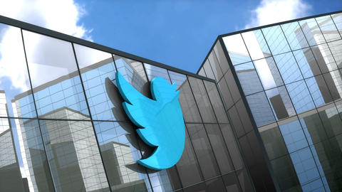 Editorial, Twitter building Stock Video Footage