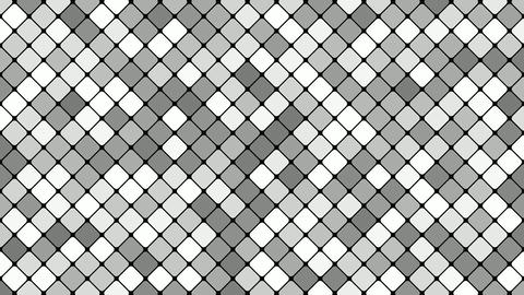 Diagonal square mosaic pattern background - seamless loop motion graphic Animación