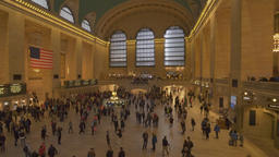Moving shot of Grand Central Station in New York Footage