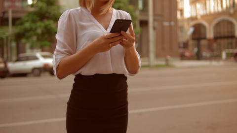 businesswoman use gadget GIF