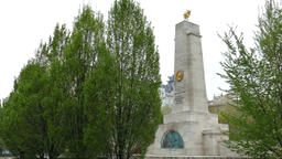 Soviet War Memorial, Freedom Square, Budapest, Hungary Footage